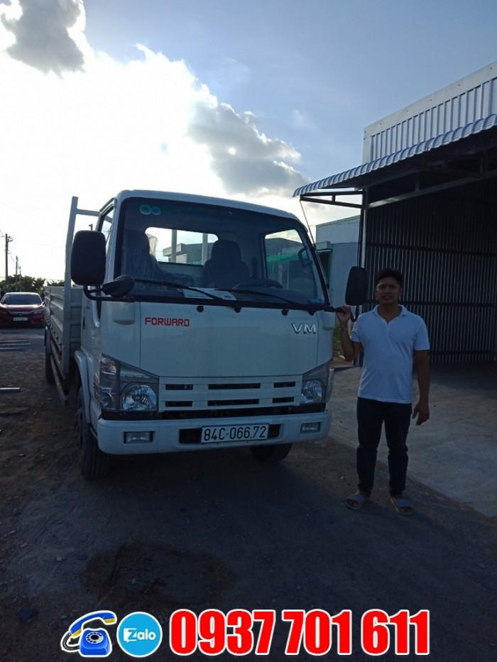 Xe tải Isuzu 1t9 thùng dài 6m2 giá rẻ trả góp toàn quốc 0