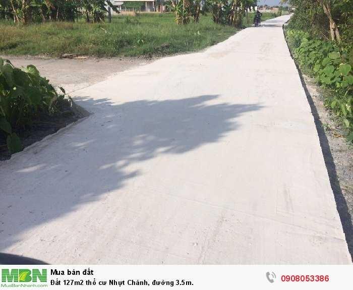 Đất 127m2 thổ cư Nhựt Chánh, đường 3.5m.