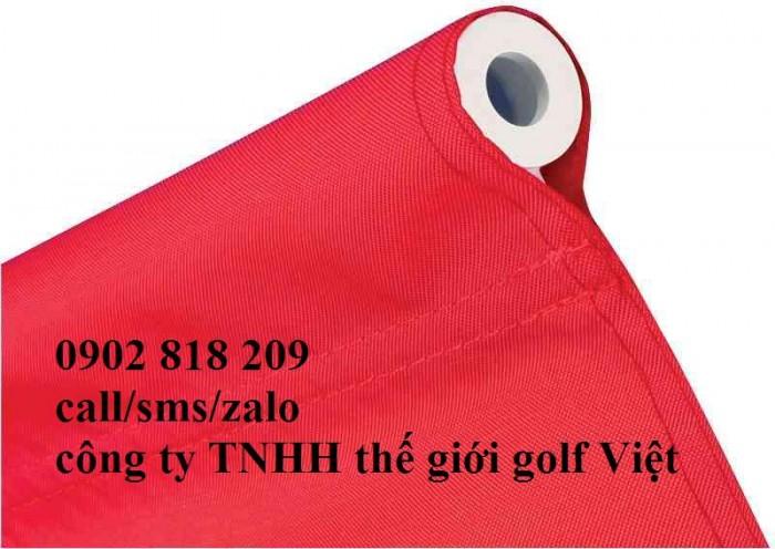 Cờ sân golf, lá cờ golf vải có cán nhựa5