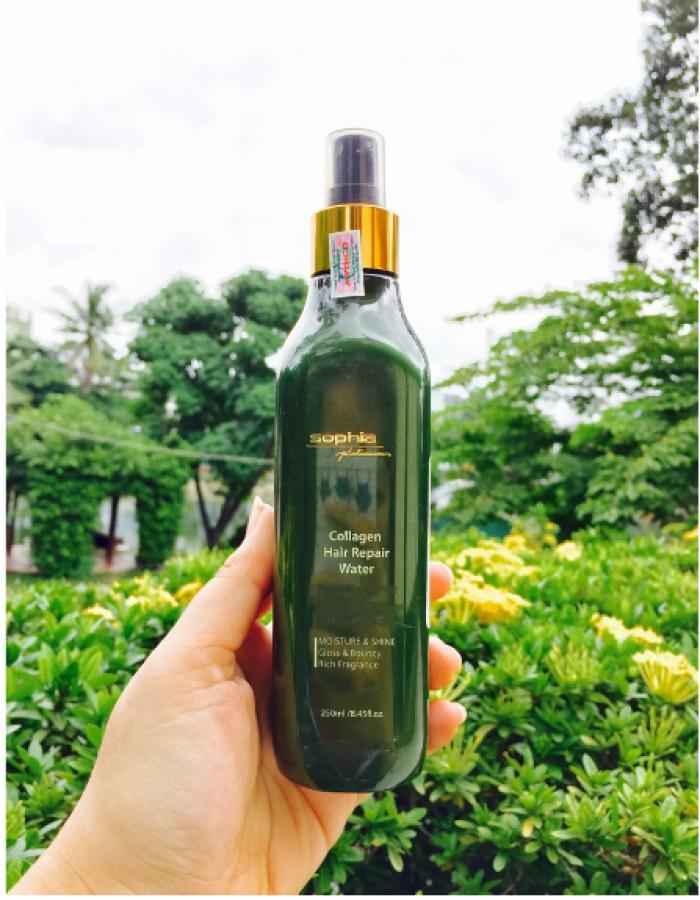 Xịt dưỡng phục hồi tóc Collagen Hair Repair Water Sophia 250ml7