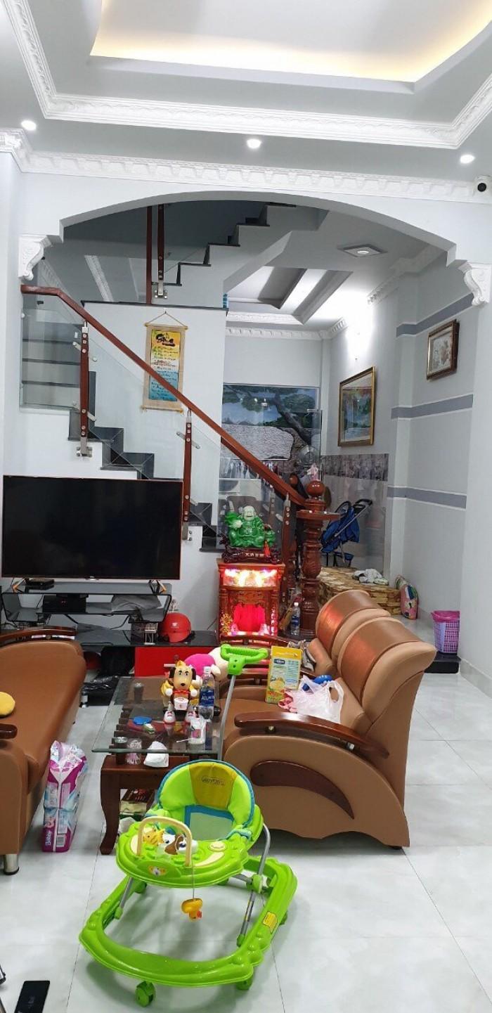 Bán nhà hẻm 1806 Huỳnh Tấn Phát, Nhà Bè, Tp.HCM. 2 lầu 4PN, thiết kế đẹp, DT 240m2