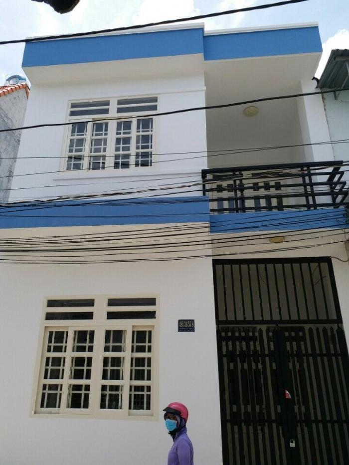 Nhà giá rẻ Huỳnh Tấn Phát thị trấn Nhà Bè, dt:3,2x7m, trệt 1 lầu+2pn+2wc. sổ hồng đầy đủ