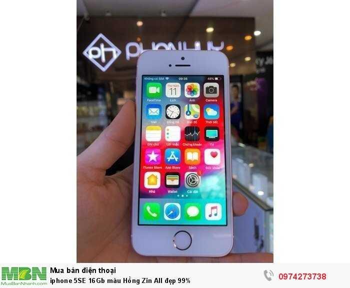 Iphone 5SE 16Gb màu Hồng Zin All đẹp 99%1