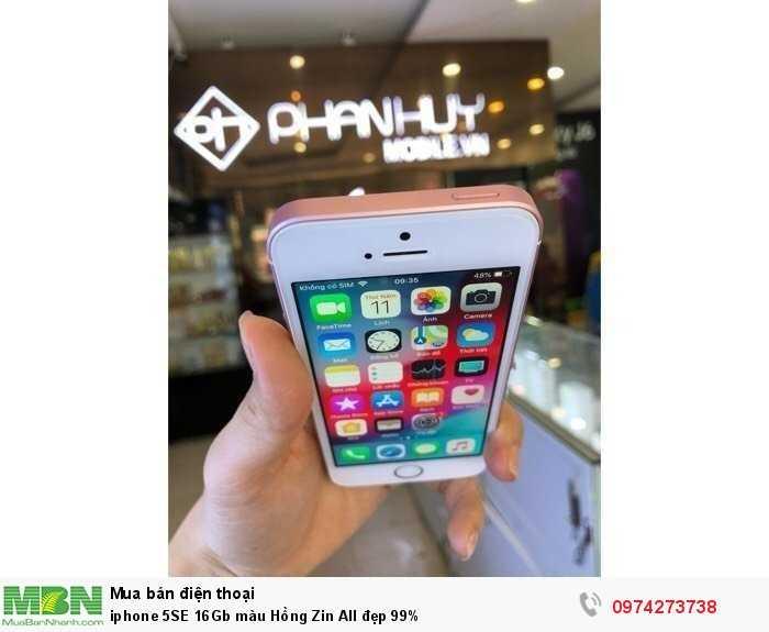 Iphone 5SE 16Gb màu Hồng Zin All đẹp 99%2