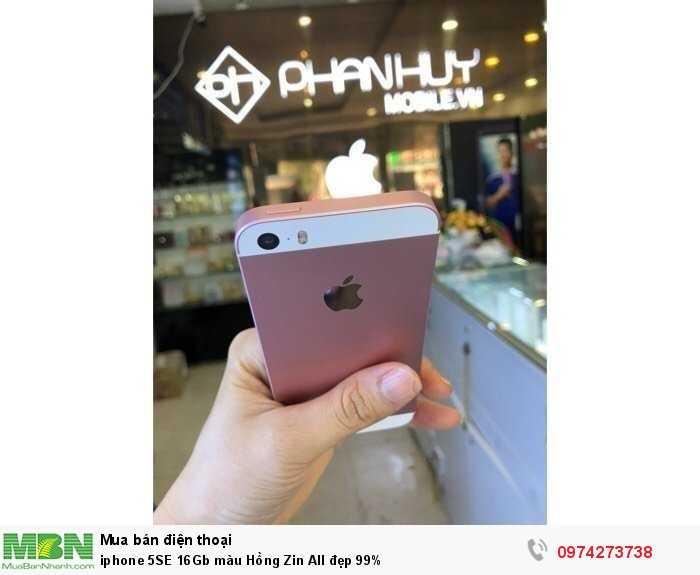 Iphone 5SE 16Gb màu Hồng Zin All đẹp 99%3
