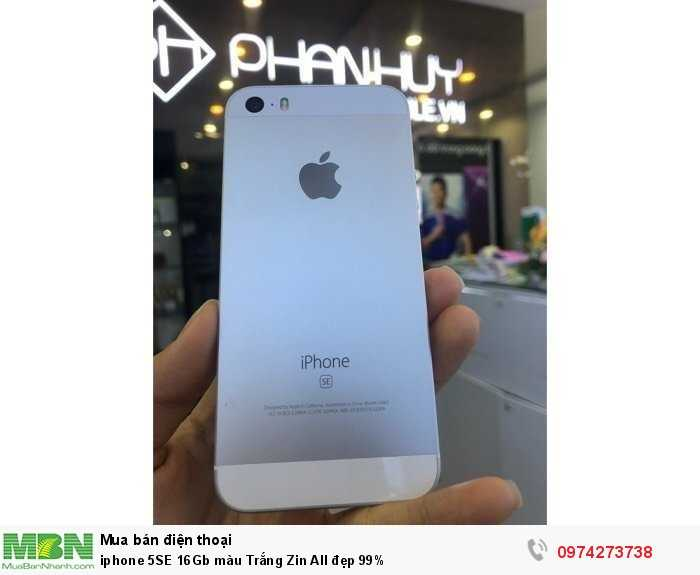 iphone 5SE 16Gb màu Trắng Zin All đẹp 99%0