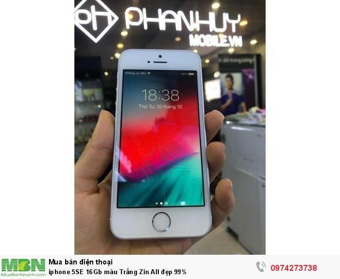iphone 5SE 16Gb màu Trắng Zin All đẹp 99%1
