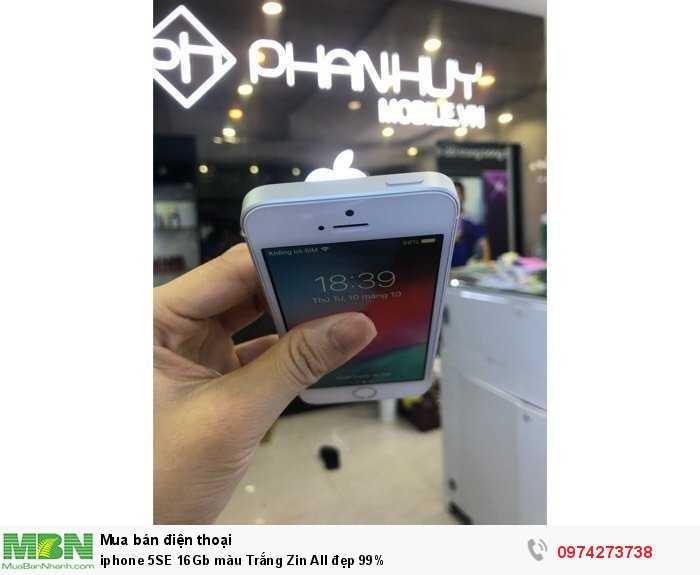 iphone 5SE 16Gb màu Trắng Zin All đẹp 99%3