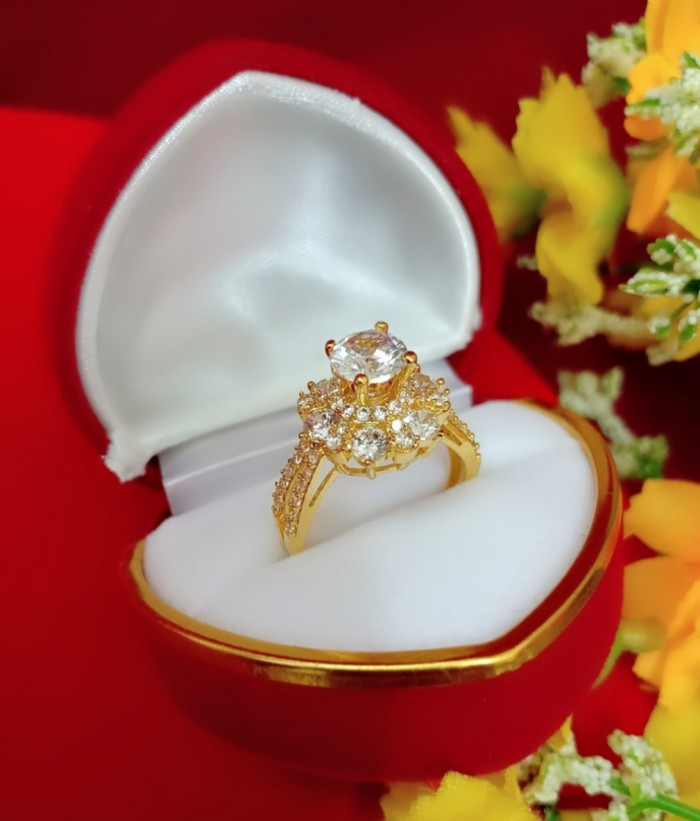 Nhẫn nữ mạ vàng 18k1