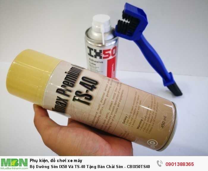 TS-40 dùng để vệ sinh làm sạch nhông sên. Đây là sản phẩm đa năng không những làm sạch nhông sên cực kỳ hiệu quả mà còn có nhiều tính năng như chống rỉ sét, bảo vệ bề mặt kim loại khỏi rỉ sét, làm sạch kim loại,...