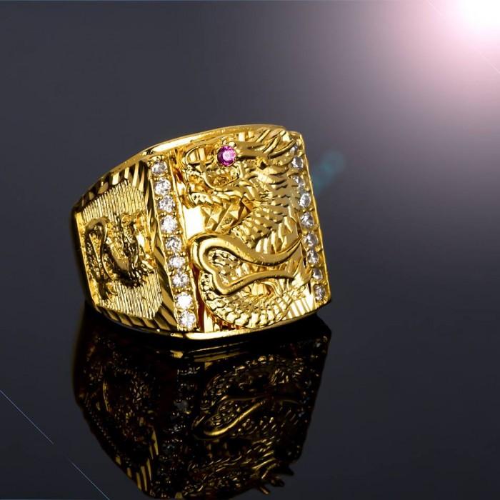 Nhẫn thiên long mạ vàng cao cấp0