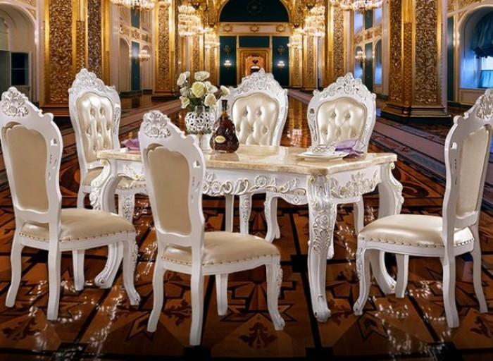 mẫu bàn ăn tân cổ điển q2 q7 q90