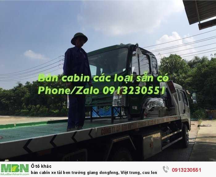 Bán Cabin Xe Tải Ben Trường Giang Dongfeng, Việt Trung, Cuu Long Tmt, Vinaxuki, Iz49