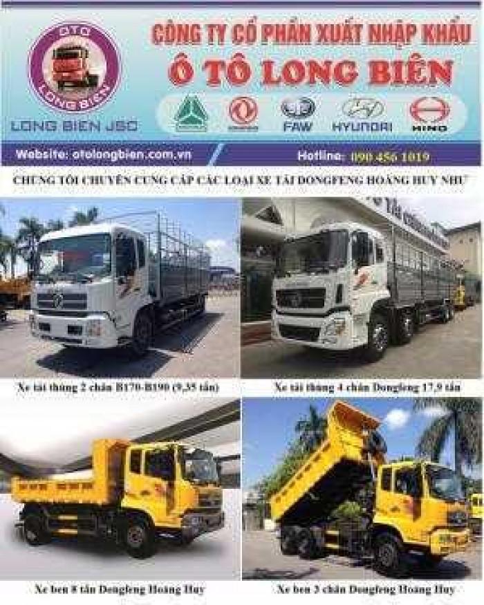Ô tô Ben 8T Dongfeng Hoàng Huy YC180 nhập khẩu. Mới