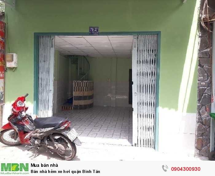 Bán nhà hẻm xe hơi quận Bình Tân