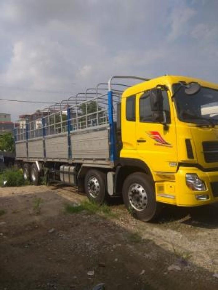 Tải thùng 4 chân YC310, tải 17 tấn 9, thùng dài 9m5