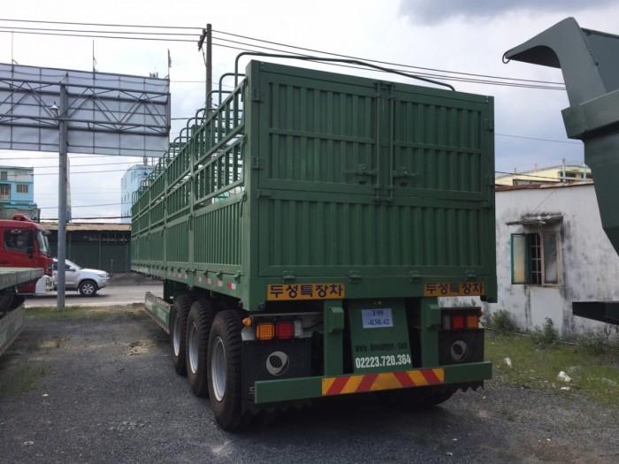 Đại lý Mooc lồng tải Doosung (Có mui), 3 trục 40 feet,giá gốc,xe có sẵn,giao ngay. 1