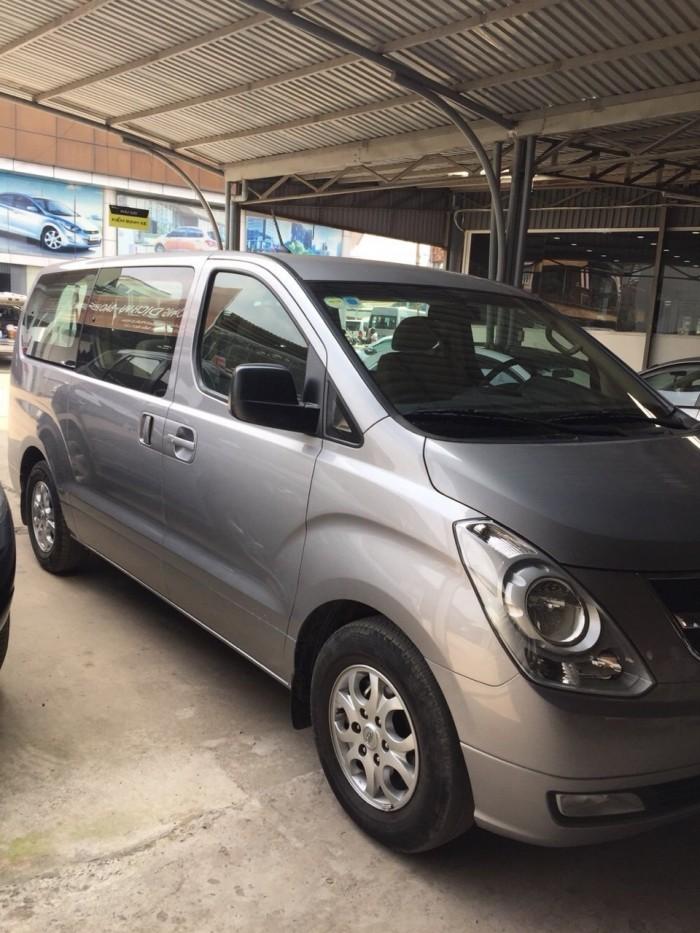 Bán Hyundai Starex 2.5MT máy dầu số sàn màu ghi xám 9 chỗ nhập Hàn Quốc 2014 biển Sài Gòn