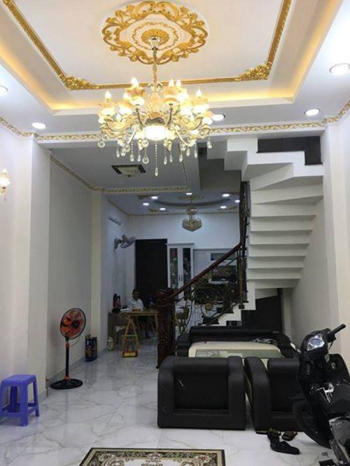 Nhà 1 trệt 1 lầu đẹp 80m2 lô góc 2 Mặt tiền đường lớn, kinh doanh tốt Miếu Gò Xoài Q. Bình Tân