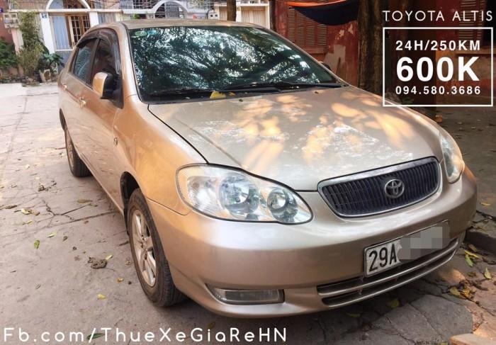 cho thuê xe tự lái có lái 4 chỗ Toyota Altis giá rẻ tại hà nội