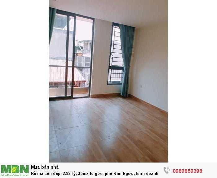 Rẻ mà còn đẹp 35m2 lô góc, phố Kim Ngưu, kinh doanh nhỏ.