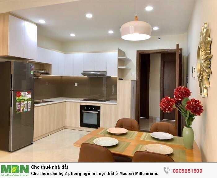Cho thuê căn hộ 2 phòng ngủ full nội thất ở Masteri Millennium quận 4