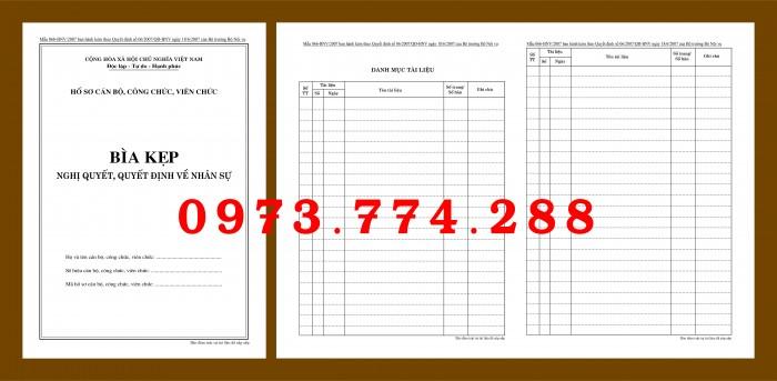 Bìa hồ sơ cán bộ công chức15
