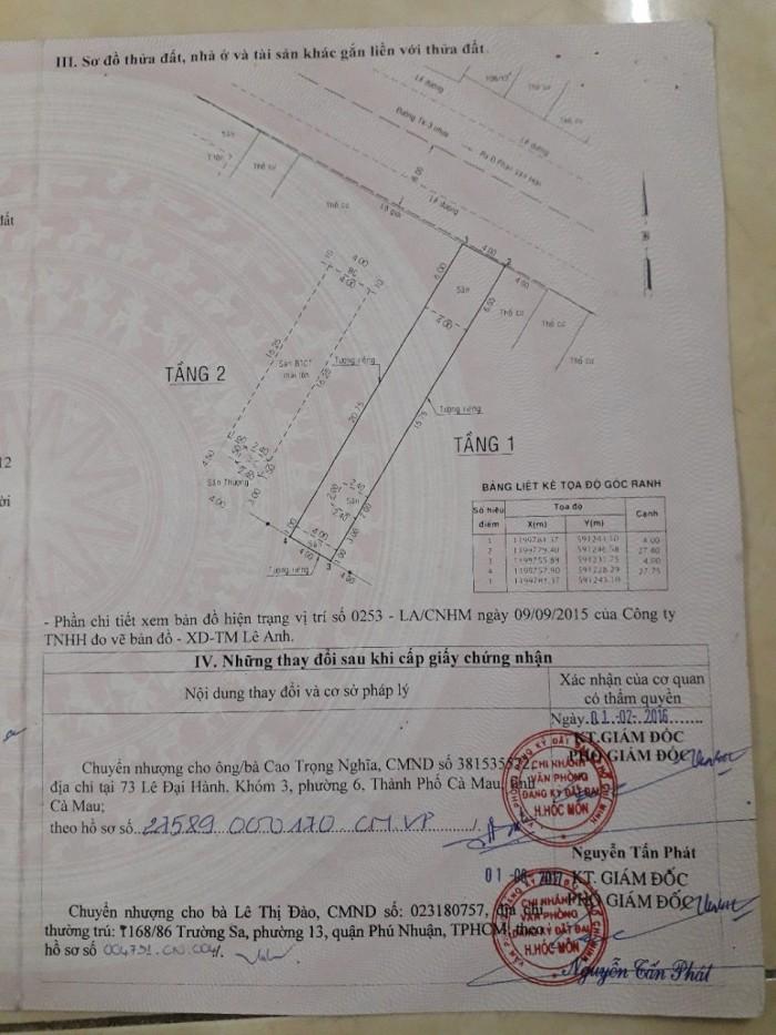 Bán Nhà Mới Xây 106/3A, Xuân Thới Thượng, Hóc Môn