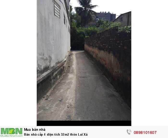Bán nhà cấp 4 diện tích 32m2 thôn Lai Xá