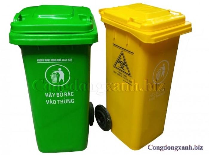 Cung cấp thùng rác 240 lít giá rẻ1