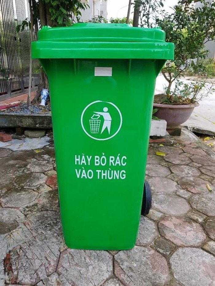 Cung cấp thùng rác 240 lít giá rẻ0