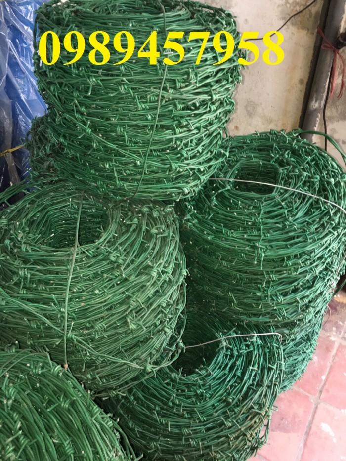 Dây thép gai bọc nhựa, dây thép gai mạ kẽm giá rẻ