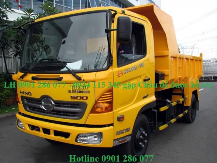 Xe ben Hino 6 tấn FC/ bền bỉ, mạnh mẽ/giá cạnh tranh/ hỗ trợ trả góp/ duyệt nhanh/ lấy xe nhanh 1