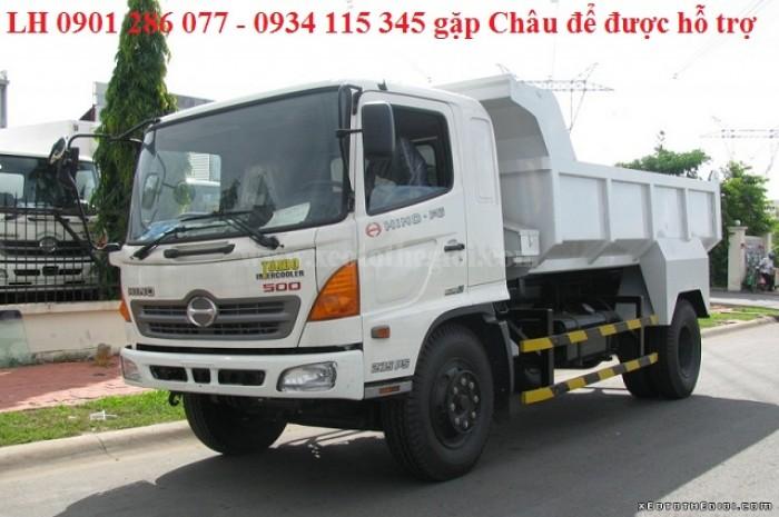 Xe ben Hino 6 tấn FC/ bền bỉ, mạnh mẽ/giá cạnh tranh/ hỗ trợ trả góp/ duyệt nhanh/ lấy xe nhanh 4