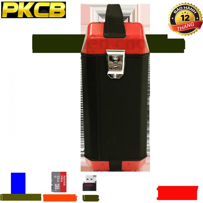 Loa bluetooth chính hãng siêu bass PKCB 60 đèn LED 15W Cao cấp