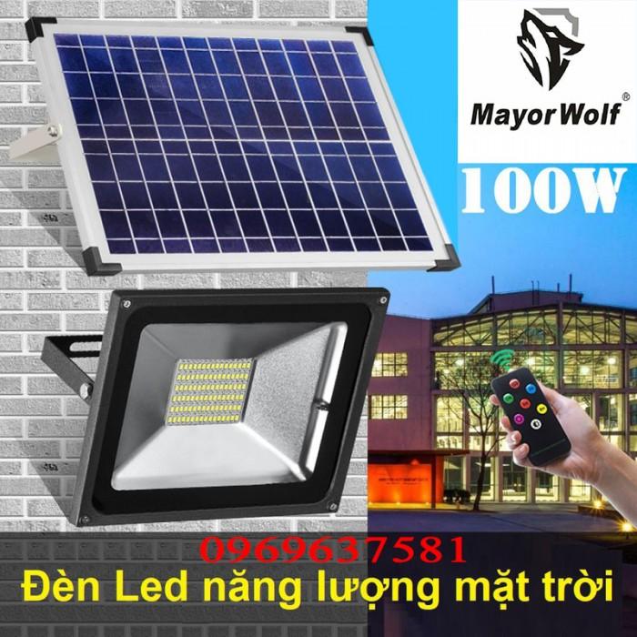 Đèn pha năng lượng mặt trời 100W MayorWolf0