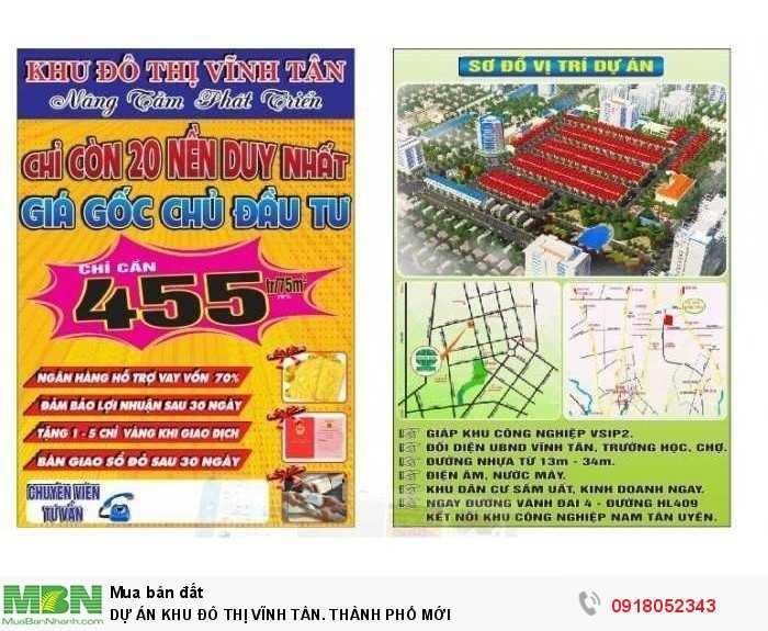 Dự Án Khu Đô Thị Vĩnh Tân. Thành Phố Mới