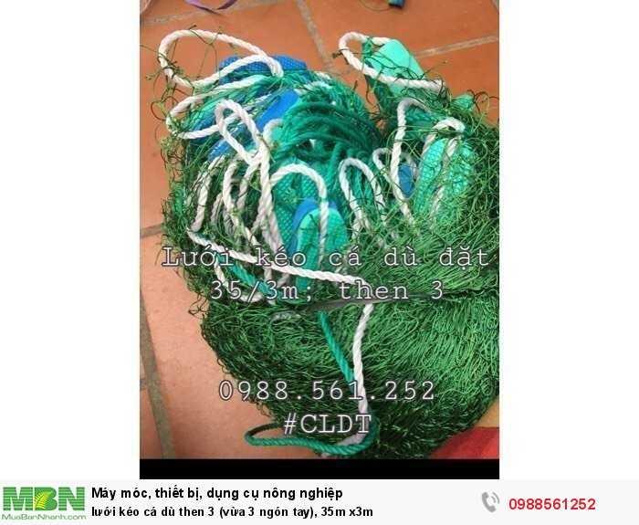 Lưới kéo cá dù then 3 (vừa 3 ngón tay), 35m x3m2