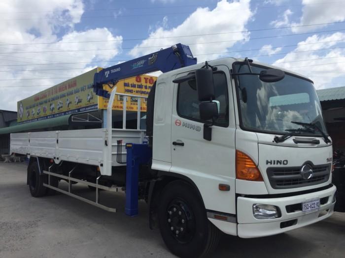 Giá xe tải gắn cẩu Hino FG8JPSL 8 Tấn gắn cẩu Tadano 5 tấn, trả trước 300 triệu giao luôn xe - Gọi 0907043398 (MrTú 24/24)