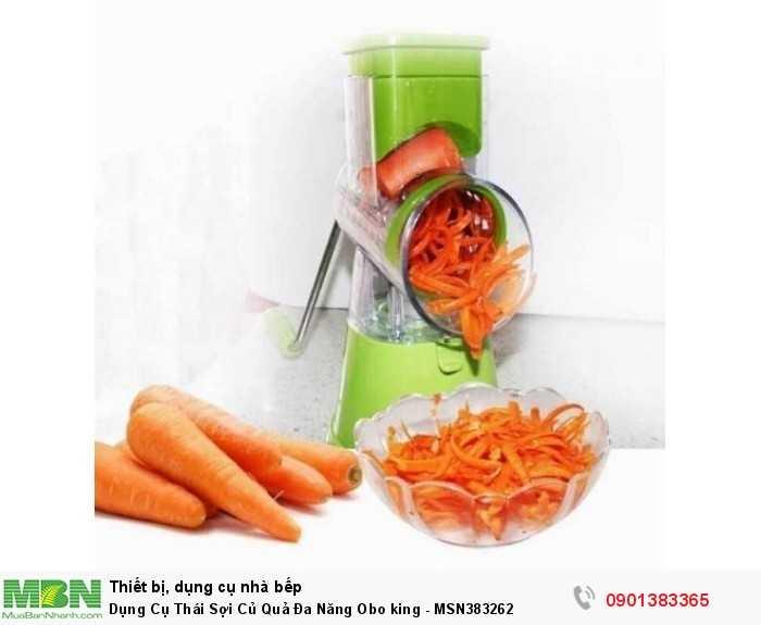 Dụng cụ cắt gọt rau củ quả Obo King sẽ là một trong những vật dụng không thể thiếu trong căn bếp nhà bạn, bởi nó luôn đáp ứng được nhu cầu nhanh chóng của các bà nội trợ.0