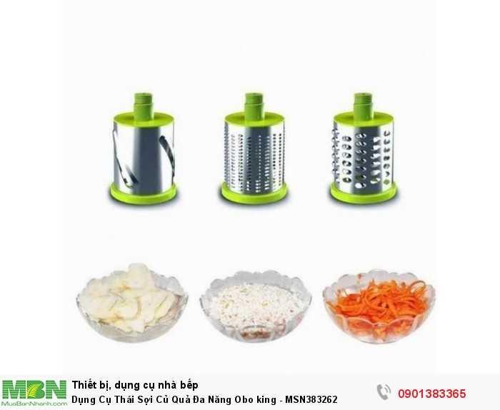 Dụng cụ cắt gọt rau củ quả Obo King hoàn toàn có thể thay thế các dụng cụ cắt gọt rau củ quả thông thường.Bạn có thể thái sợi hay thái lát mỏng rau củ quả siêu tốc, tiết kiệm thời gian và chi phí gia đình.2