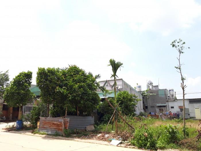 Bán đất sổ hồng 680tr/nền mặt tiền đường chợ, Bình Dương