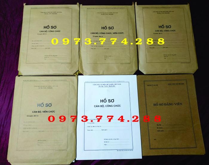 Bán hồ sơ công chức dùng cho cán bộ công chức0