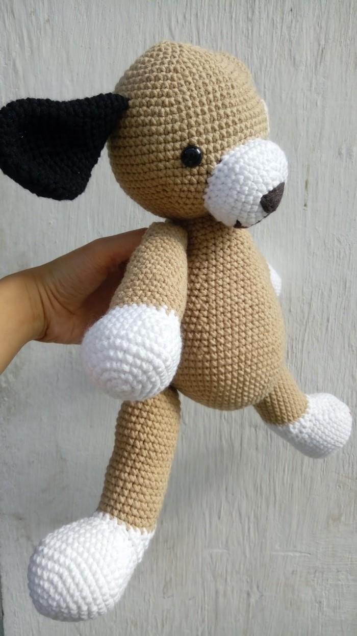 Chó bông đẹp móc len handmade9