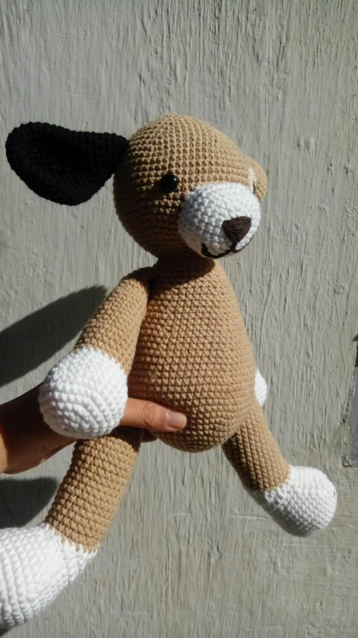 Móc con chó bằng len2