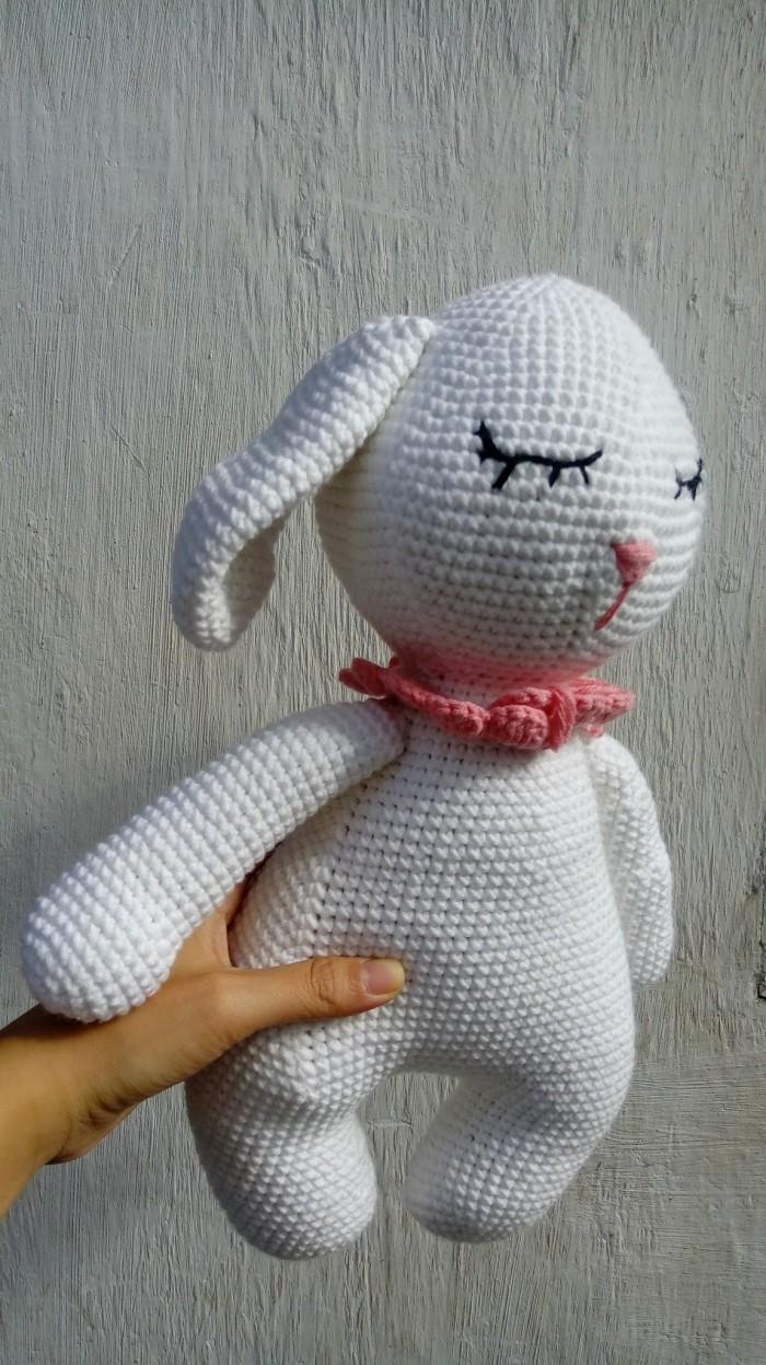 Gấu bông thỏ trắng2