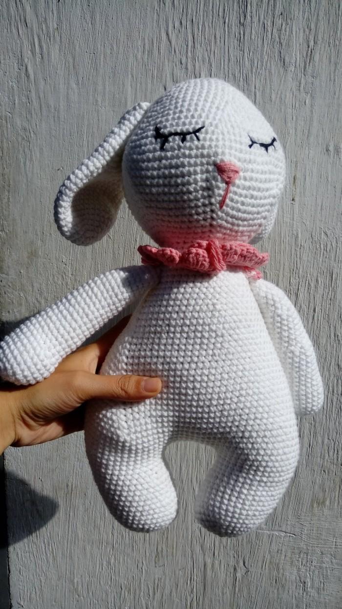Móc con thỏ len0