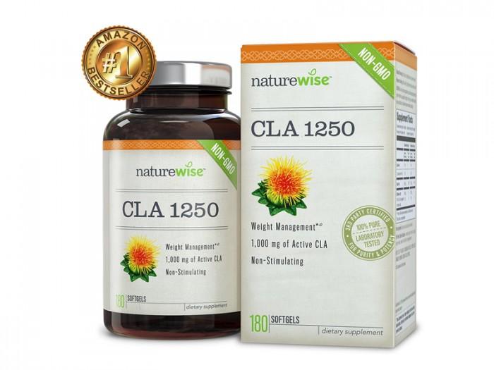 Thuốc Giảm Cân An Toàn, NatureWise CLA 1250 USA, 180 viên.