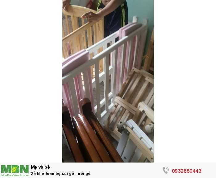 Xả kho toàn bộ cũi gỗ - nôi gỗ
