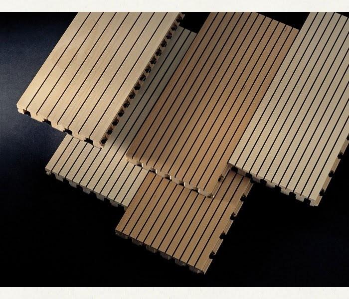 gỗ tiêu âm soi rãnh linear